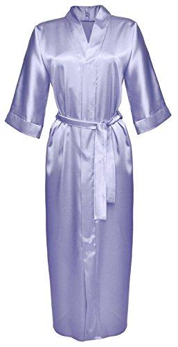 DKaren - Robe de chambre style kimono 130 - satin Bleu