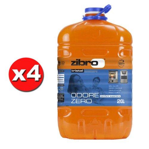 x 4 ZIBRO KRISTAL Combustibile liquido universale per quals. stufa