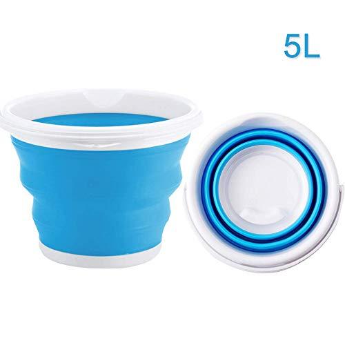 Balde Plegable - WENTS Cubo plegable redondo Cubo de Agua Plegable Plástico...