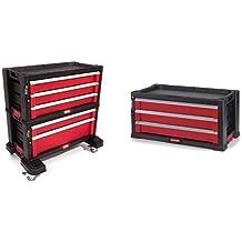 Keter 223082 - Carro Organizador Plastico 5.Cajones + 221481 - Herramientas de servicio con 3 cajones