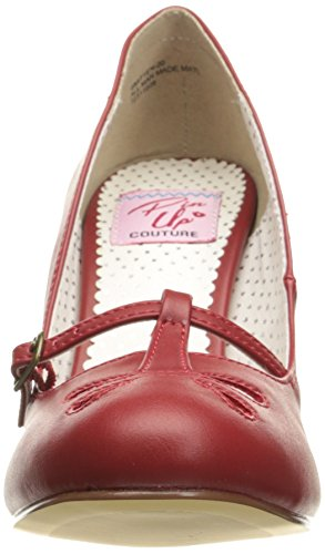 Pin Up Couture Smitten-20 Damen Retro Pumps Rosso Ecopelle