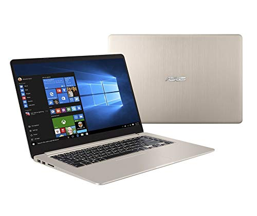 "Asus Vivobook S510UF-BQ268R Notebook con Monitor 15.6"" FHD, Intel Core Core I5-8250U, RAM 8 GB, SSD 256 GB e HDD 1 TB, Gold Metal"