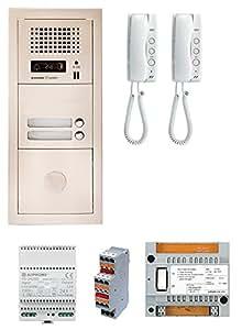 Aiphone - Pack interphone audio collectif platine encastrée 2 appels GTA2E ref:200300