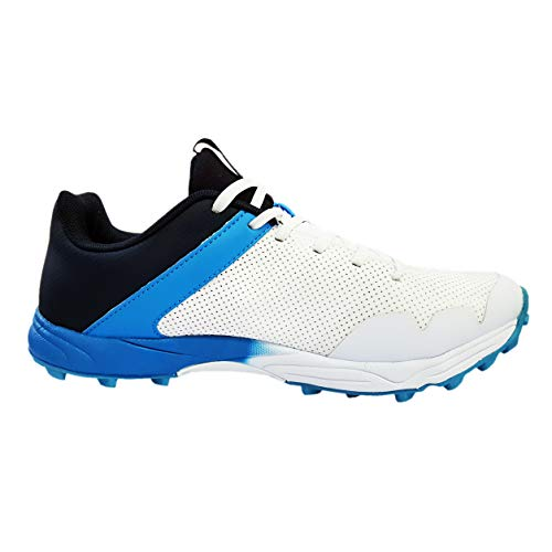 Kookaburra Pro 1500 Rubber Cricket Spikes - White/Blue - 9 UK