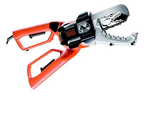 elektro baumschere Black+Decker Elektro-Astschere Alligator (550W, 10 cm Schwertlänge, Sicherheits-Zweihandgriff, Klemmbackensystem) GK1000