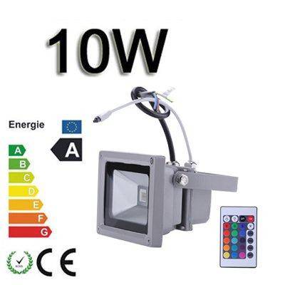 *TOP Leistung**4er SET*10W LED RGB Strahler Fluter Licht Flutlicht IP65/CE Spot Scheinwerfer mit Fernbedienung Farbwechsel Wandstrahler Außenstrahler von Himanjie - Lampenhans.de