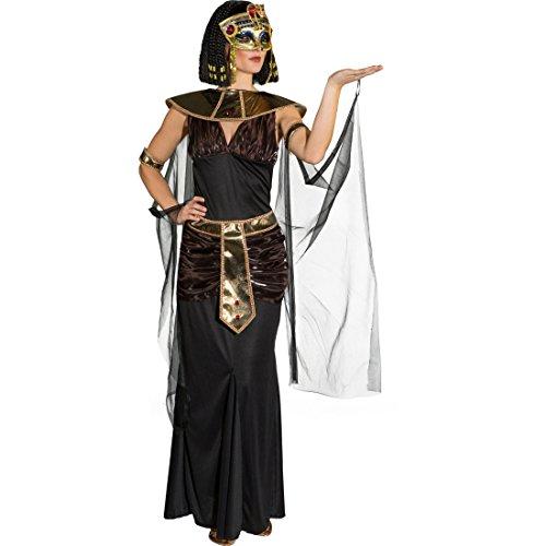 Amakando Costume da Cleopatra Abito da Donna egiziana L 48/50 Vestito da Regina egizia Outfit regnante egiziana Travestimento per Carnevale Stile antichità Mascheramento Faraone