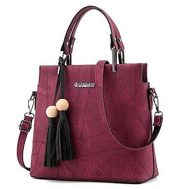 Dame Big Totes Bag Damen Handtasche Messenger Handtasche Crossbody Tasche Leder PU mit Nizza Gürtel und Perle Bolsos Mujer Bolsos Mujer Ruby