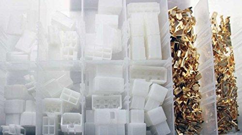 Flachsteckhülsen Flachstecker Set Presskabelschuh-Sortiment mit Gehäuse / Sockelgehäuse (2-pin bis 8-pin 240-tlg. (im wiederverwendbaren Aufbewahrungsbox / Sortimentsbox / Sortierkasten) - 2