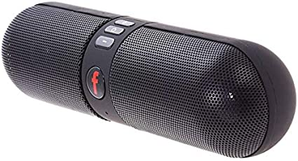 Heypex F520 Portable Stereo Bluetooth Pill Speaker with Surround Sound | HD Audio | Aux Cable 3.5mm Jack | Calling Function Compatible with All Android, iOS & Windows Device (Assorted Colour)
