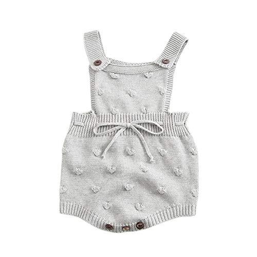 Hongyuangl Unisex Baby Strickwaren Frühlings Herbst Strickjacke ärmelloses Gestricktes Spielanzug Bodys - Häkeln Baby Strickjacke