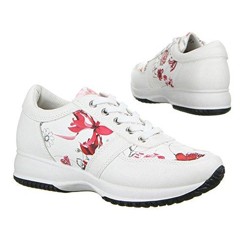 Casuais Sapatas Branco Sapatos Vermelho Das 146 22 Senhoras xqqvwFUY