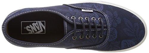Vans Herren Ua Authentic Sneakers Blau (Floral Jacquard Parisian Night/blanc De Blanc)