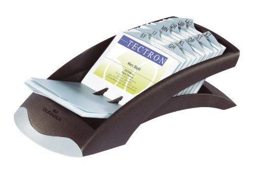 Durable 241301 Visitenkartenkartei Visifix desk (für 200 Karten) 1 Stück schwarz