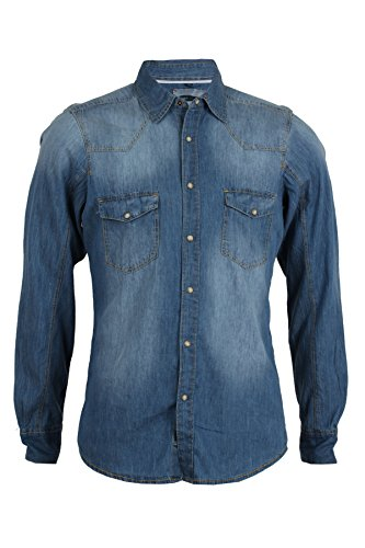 Camicia jeans Thor one wash slim fit, XXL