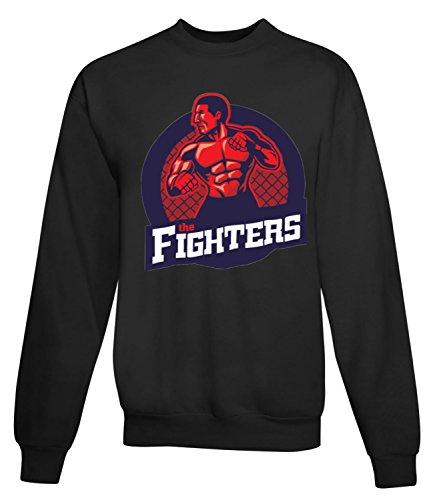 Billion Group | Ring Fighter | Fight Club | Sport Series | Women's Unisex Sweatshirt Noir