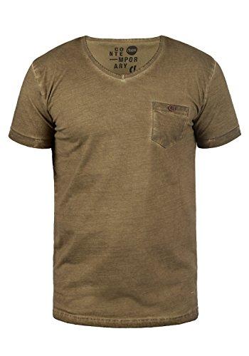 !Solid Tinny Herren T-Shirt Kurzarm Shirt mit V-Ausschnitt aus 100{aad7a10824dff5c331914499e92266711fa4fc0722a9219555517434dc5e02f1} Baumwolle, Größe:L, Farbe:Ermine (5944)