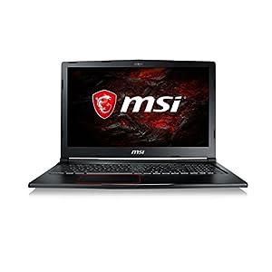 """MSI Raider GE63 7RD-021XES - Ordenador portátil de 15.6"""" FHD (Kabylake i7-7700HQ, RAM de 16 GB DDR4, HDD de 1 TB y SSD de 256 GB, Nvidia GeForce GTX 1050 Ti, sin sistema operativo) color negro"""