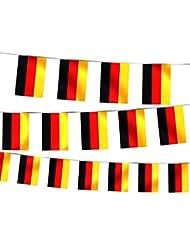 Guirlande drapeaux pays drapeau Décoration chic et sympa maison bar restaurant intérieur extérieur chaque Drapeau 14 x 21 cm Tissu synthétique imperméable, wählen:W-DE Wimpel Deutschland 4.50 m