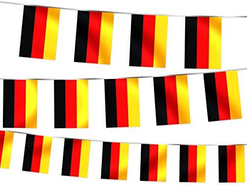 Alsino 2 Stück Deutschland WM 2018 4 Meter je Wimpelkette lange Wimpelkette Fahnenkette Flaggenkette Fanartikel 3