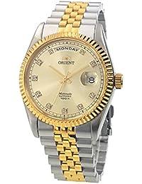 """Orient """"Oyster Classic automático Sapphire 2tono oro reloj ev0j002C"""