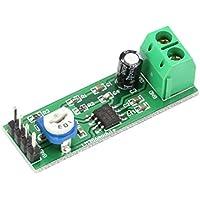 sdfghzsedfgsdfg Tablero del amplificador LM386 Mini Super 200X Módulo de potencia mono canal electrónico Herramienta de bricolaje audio amplificación de volumen ajustable verde