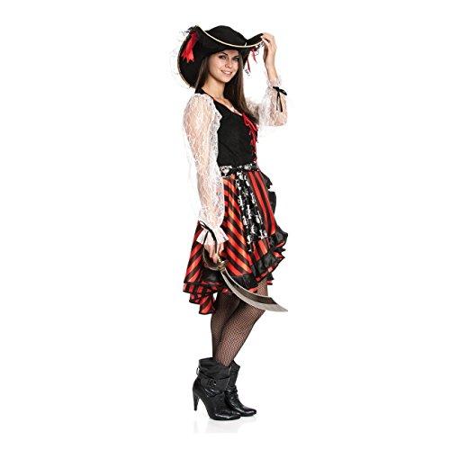 Kostümplanet® Piratin Kostüm Piratinkostüm Damen Piraten Kostüm Größe 44/46