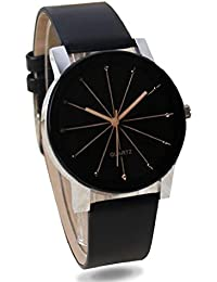 c75d342d90675 SKY MART New Arrival Crystal Studded Black Dial Black Leather Strap Party  Wedding Watch