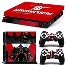 Ridhaan Collection Wolfenstein The New Order Theme Skin Sticker For PS4 Console And Controller