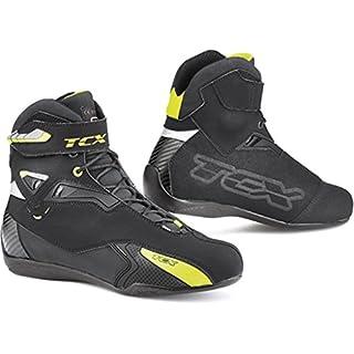TCX Rush WP Motorradstiefel schwarz/Neongelb, schwarz/Neongelb, 42