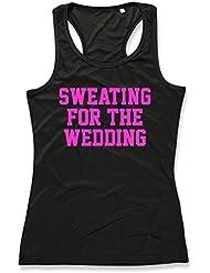 Direct 23 Ltd Sweating For The Wedding Ladies Sports Vest (Black)
