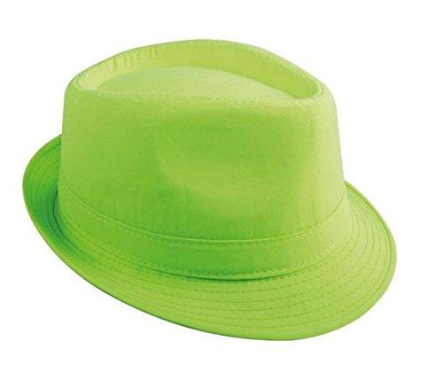 ptit-clown-re14382-chapeau-tissu-adulte-borsalino-vert-fluo