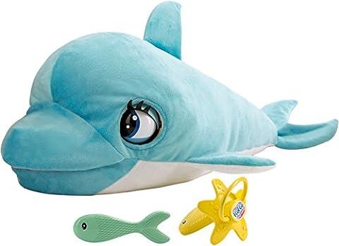 IMC Toys - 7031 - Peluche - Blu Blu - Le Dauphin - Go Go Animali Set