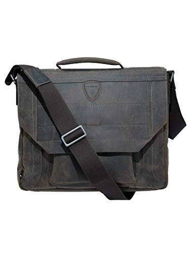 STRELLSON-Leather Briefbag Hunter MHF Darkbrown 38x31x18