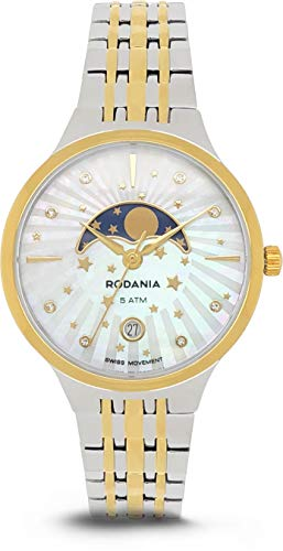 RODANIA - Damenuhr Analog Quarz Metallarmband - 414039