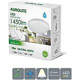 AUROLITE LED 18 W IP44, Ø 26 cm, 1450 lm, baño, cocina