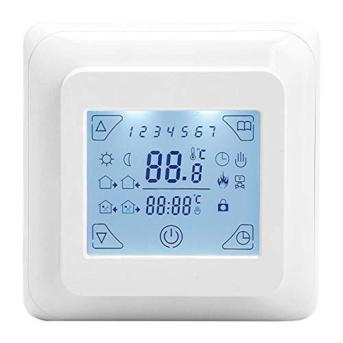 Garosa Temperaturregler Eingebettet Thermostat Programmierbare LED-Anzeige Touchscreen Bodenheizung Thermostat