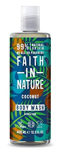 Faith in Nature Noix de Coco Gel Douche/Bain Moussant - Lot de 2