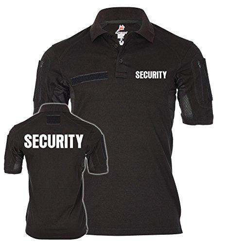 Copytec Tactical Polo Security Sicherheitsdienst Ordner Shirt Uniform Bekleidung Objektschutz Wachschutz Wachdienst #21618, Größe:S, Farbe:Schwarz (Schwarzes Security Polo)