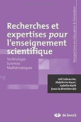 Recherches et Expertises pour l'Enseignement Scientifique Technologie - Sciences - Mathematiques