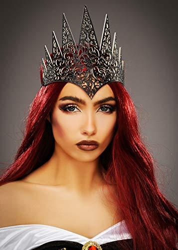 Womens Schwarze Kostüm Königin - Womens Gothic böse Königin Black Crown