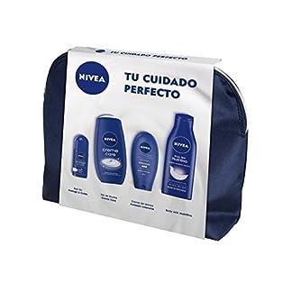 NIVEA Set de Baño Body Milk, Desodorante, Gel de Ducha y Crema de Manos – 4 Piezas