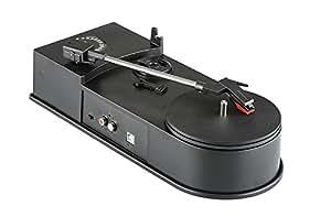 WIMI EC008B - Mini platine disque vinyle USB / Lecteur audio / Conversion LP vers MP3 / 33+45 tours / Sortie RCA / Windows + Mac
