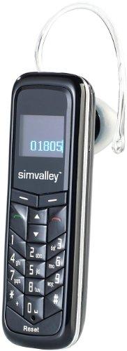 Simvalley Mobile Mini Telefon: 2in1 Mini-Handy und BT-Headset SHX-660.Duo (Mini Handys)
