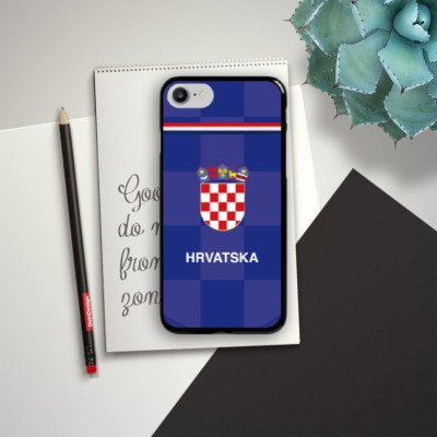 Apple iPhone X Silikon Hülle Case Schutzhülle Fußball Trikot Kroatien Hard Case schwarz