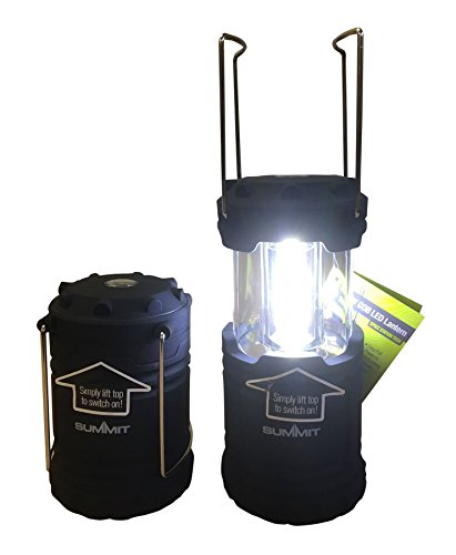 41dNics8daL - PMS SUMMIT COLLAPSIBLE 9W 600LUMEN COB LANTERN W/BATTS 6PC D