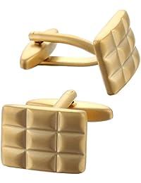 Code Red Gemelli placcati in oro, design quadrettato Gemelli