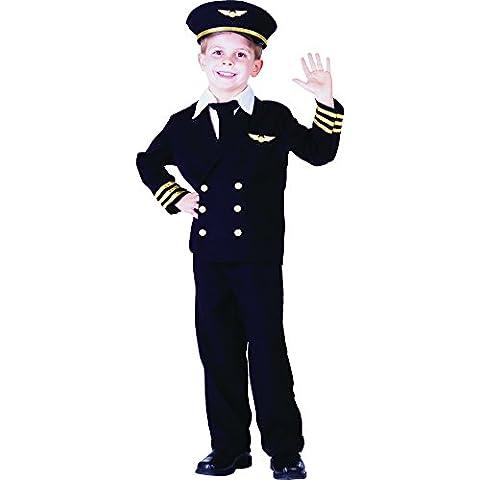 Airline Pilot Costume De Déguisement - Dress Up America - 365-L - Déguisement