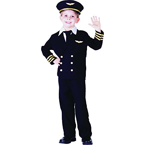 Dress Up America Wenig Junge Pilotenjacke Kostüm Set (Pilot Shirt Uniform)