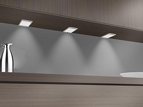 4-panel-gehäuse (LED Unterbauleuchte Panel 6Watt SET Küchenleuchte Einbauspot Einbaustrahler Pad)